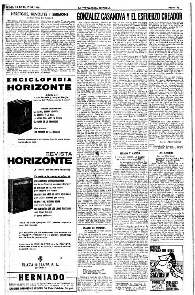 González Casanova - Artículo de Tomás Alcoverro
