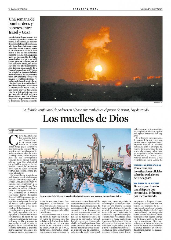 artículo Beirut, los muelles de Dios - Tomás Alcoverro