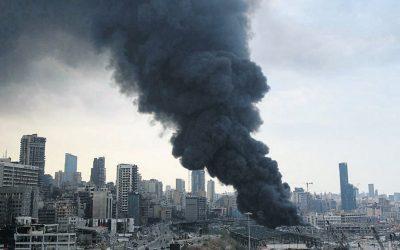 Incendio en el puerto de Beirut - Tomás Alcoverro