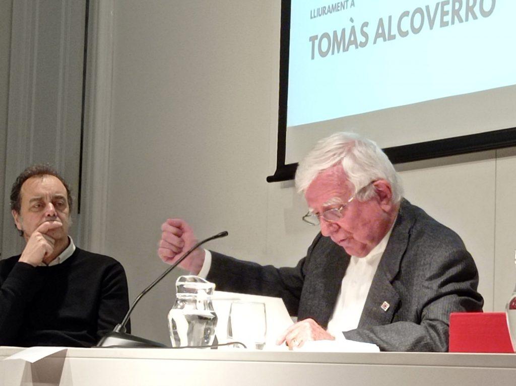 Entrega del 'Premi Ofici de Periodista' a Tomás Alcoverro